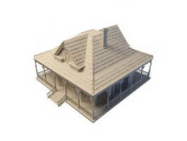 American house design 3d preview
