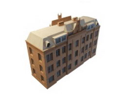 Georgian style apartment 3d model preview