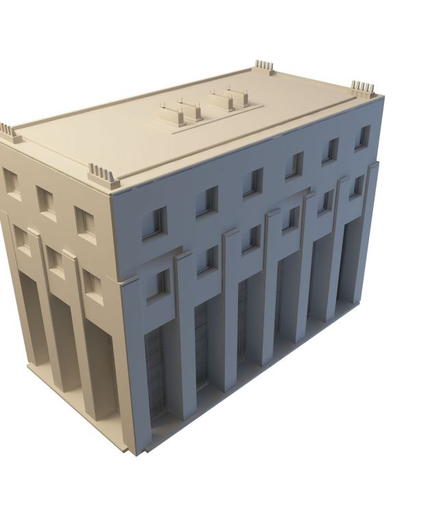 Old library building 3d rendering