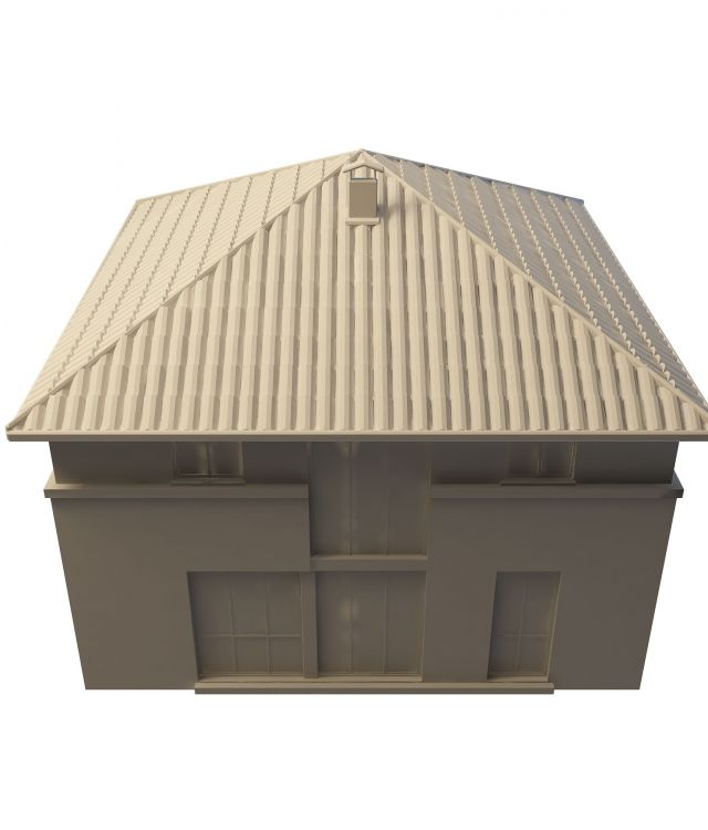 Small warehouse building 3d rendering
