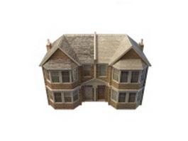 Double storey terrace House 3d model preview