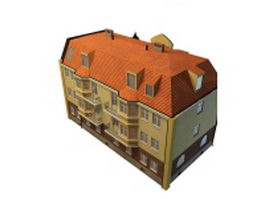 Italianate dwelling house 3d model preview