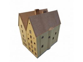 Gothic style house 3d model preview