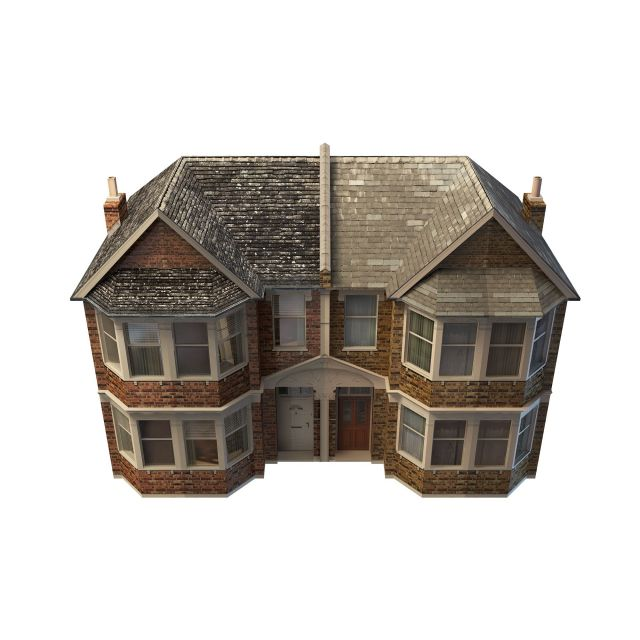 Vintage country house 3d rendering