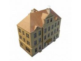 Vintage terraced house 3d model preview