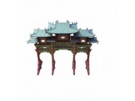 Chinese archway 3d preview