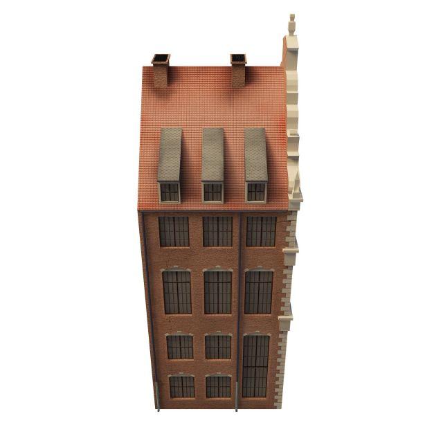 American church building 3d rendering