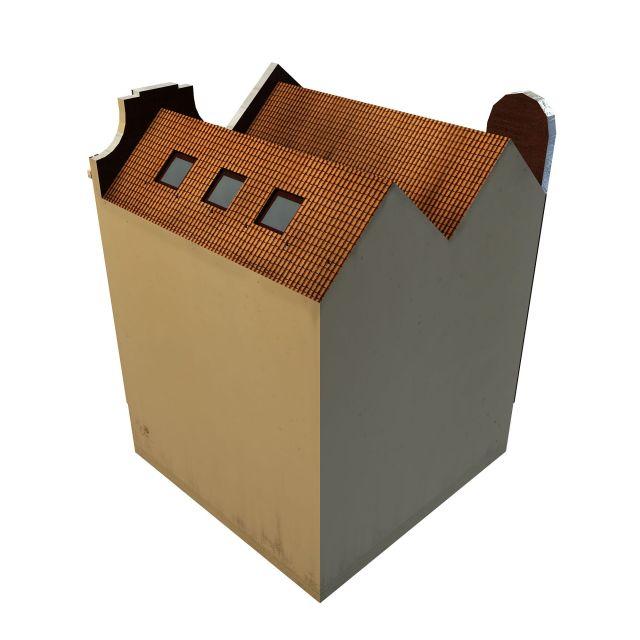 Apartment building shop 3d rendering