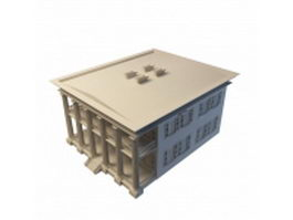 Greek revival style home 3d preview