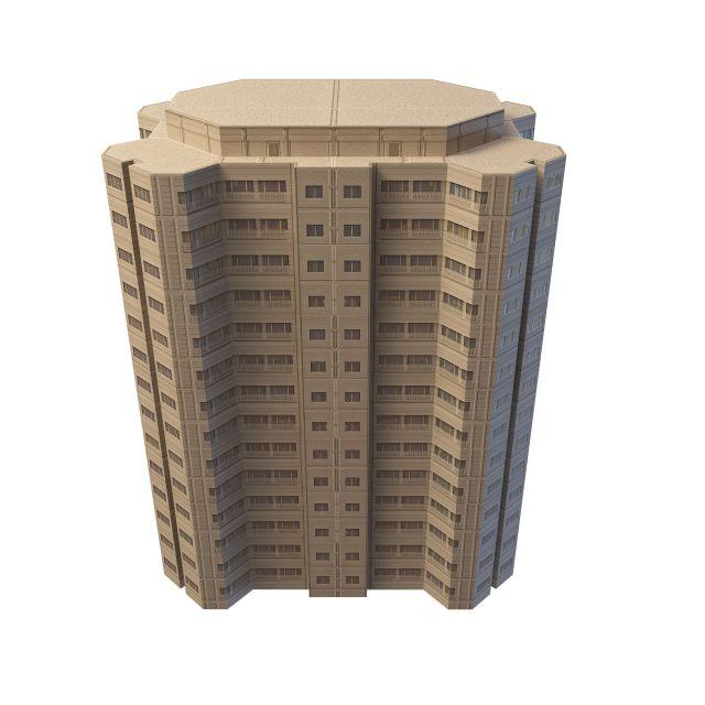 Office block 3d rendering