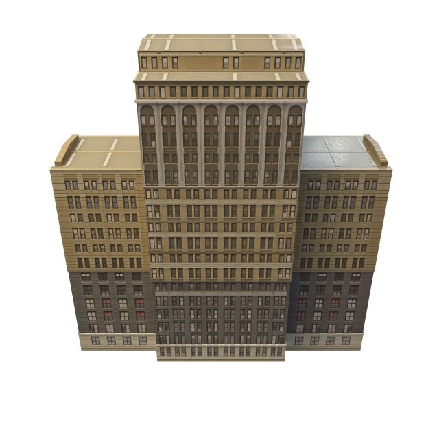 Old office building 3d rendering