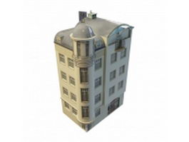 Old apartment building 3d preview