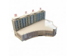 Commercial and residential building 3d model preview
