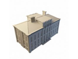 Old office building 3d preview