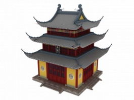 Chinese bell tower 3d preview