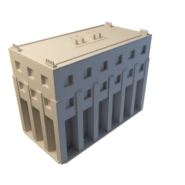 County government office building 3d rendering