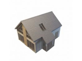 Sunroom building 3d model preview