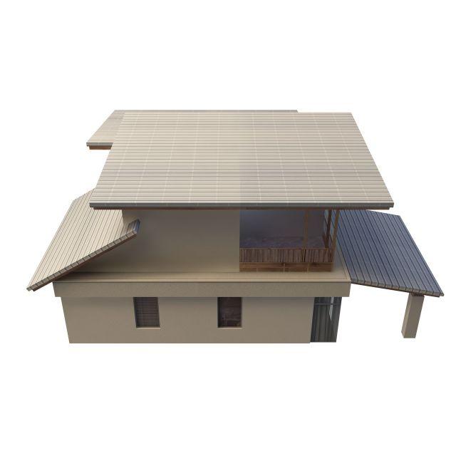 country villa 3d rendering