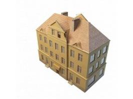 Vintage apartment block 3d model preview