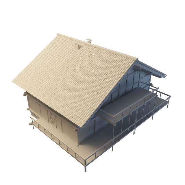 Village cottage 3d rendering