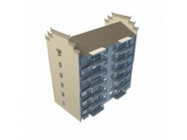 Chinese apartment building 3d preview