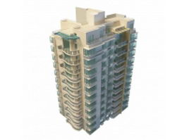 Luxury residential apartment 3d model preview