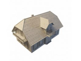 French country home 3d model preview