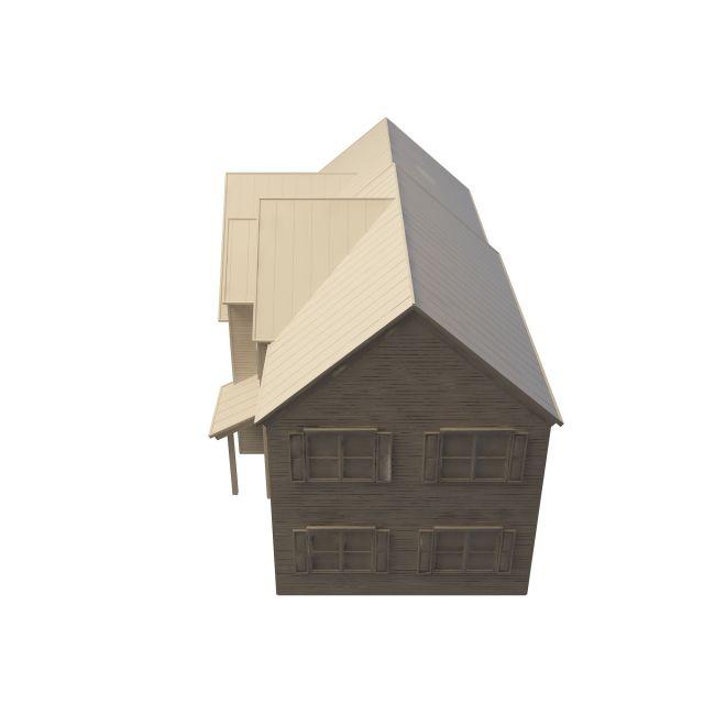 English village house 3d rendering