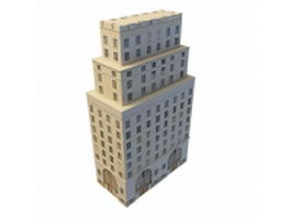 Old office block 3d model preview