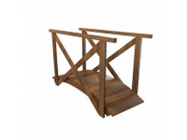 Wood bridge 3d model preview