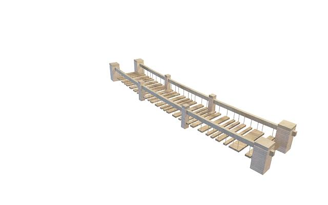 Garden bridge 3d rendering
