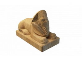 Egyptian Sphinx statue 3d preview