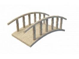 Stone bridge in garden 3d model preview