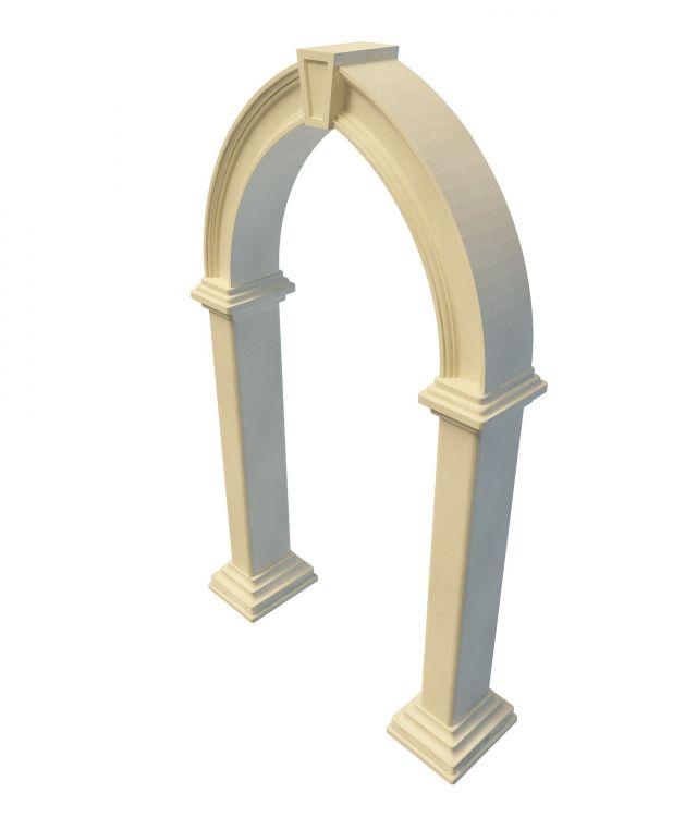 Stone garden arch 3d rendering