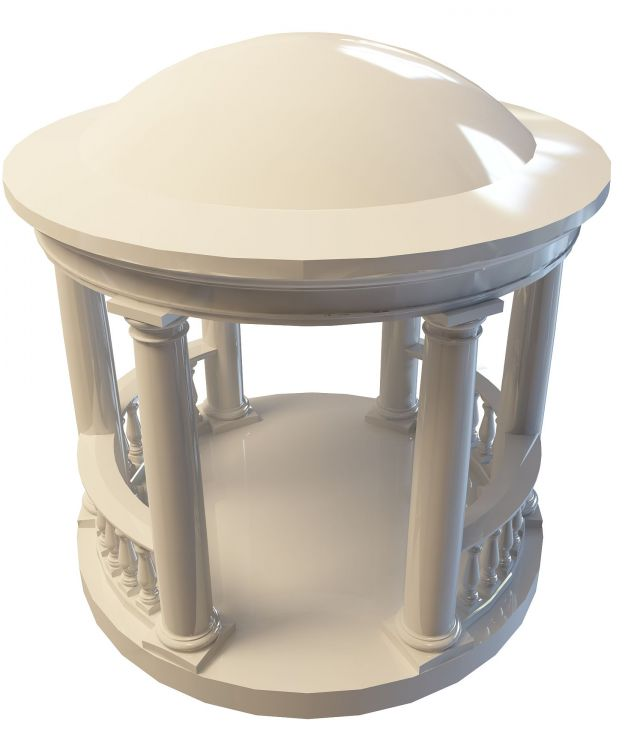 Greek gazebo 3d rendering
