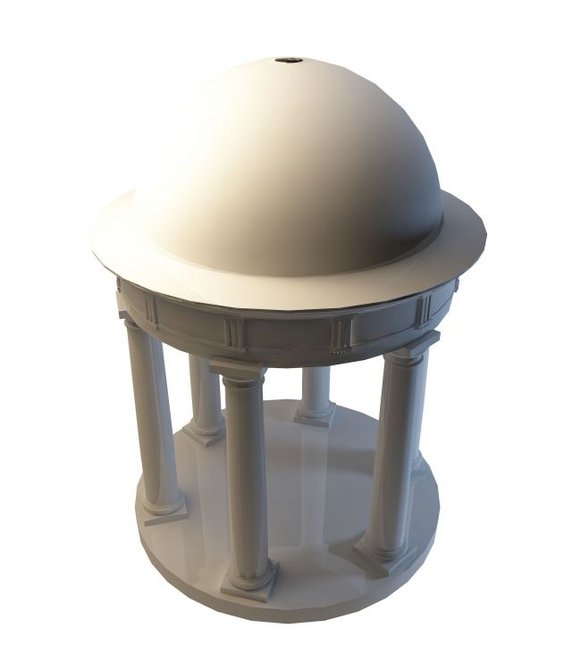 Dome roof gazebo 3d rendering