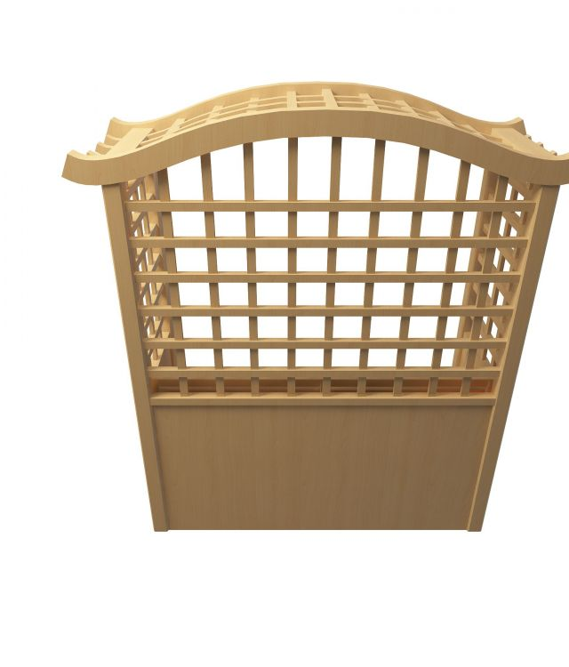 Trellis bench 3d rendering