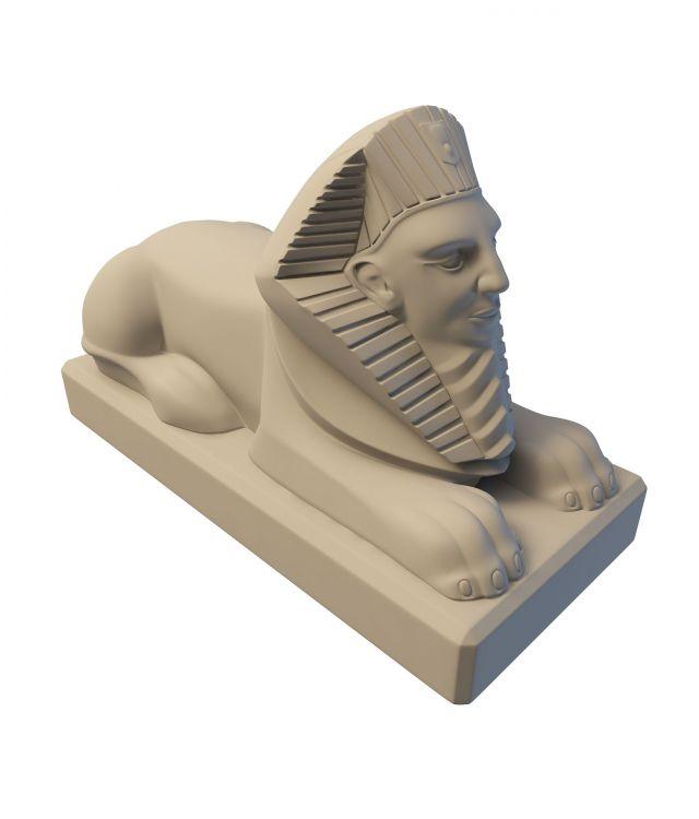 Egyptian Sphinx statue 3d rendering