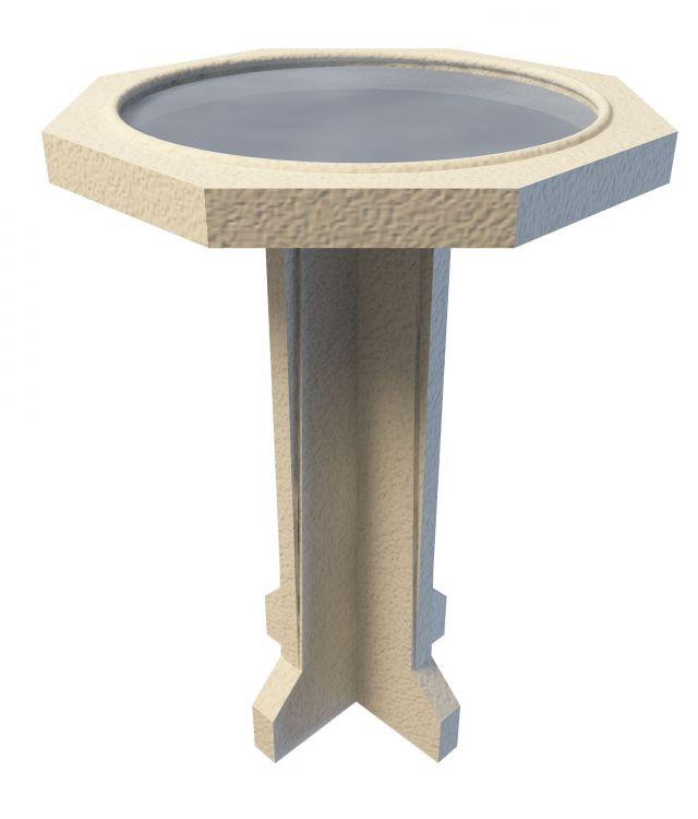 Garden pond table 3d rendering