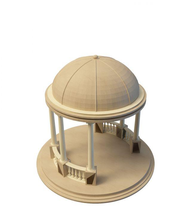 Roman style pavilion 3d rendering