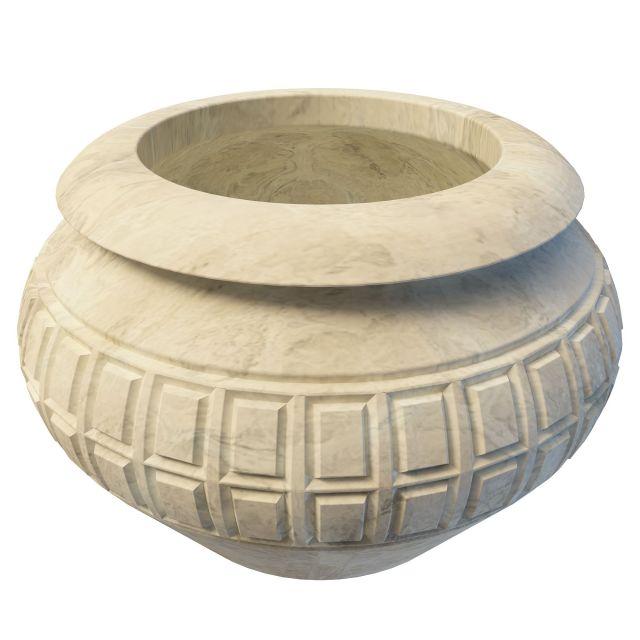 Antique stone urn 3d rendering