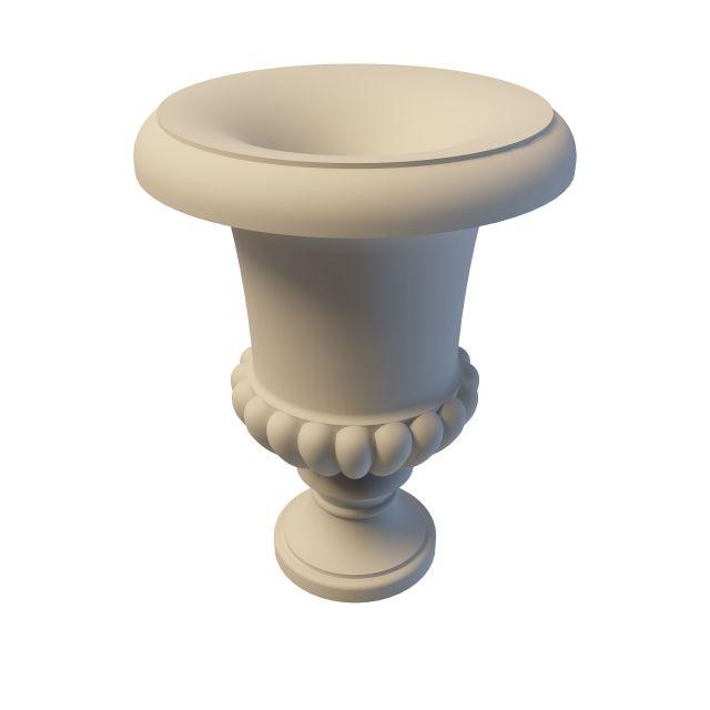 White Grecian urn planter 3d rendering