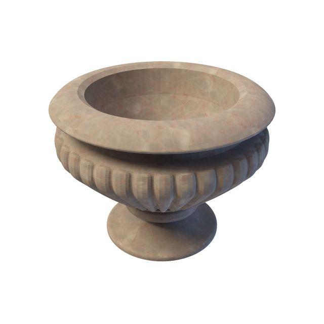 Marble planter urn 3d rendering