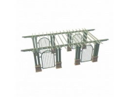 Trellis framed pergola 3d preview