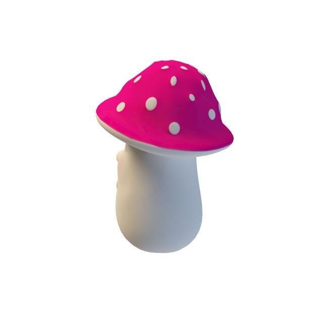 Mushroom garden ornament 3d rendering