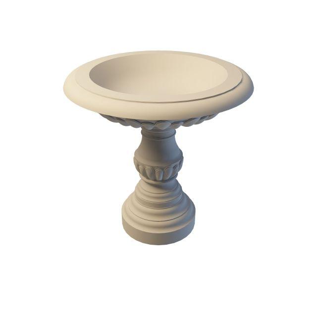 Large pedestal planter 3d rendering