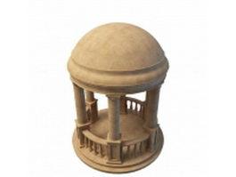 Roman marble style garden gazebo 3d preview