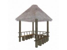 Thatched pavilion 3d preview