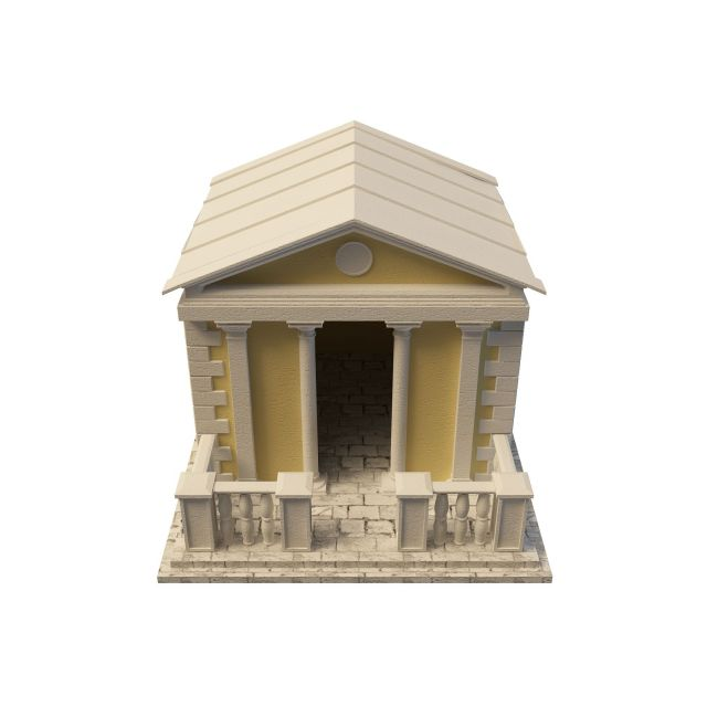 Brick summerhouse 3d rendering