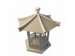 Chinese pavilion 3d preview